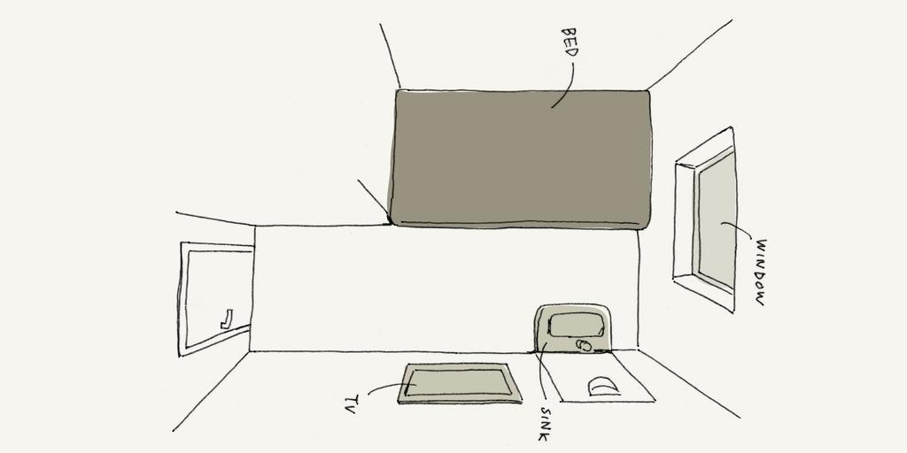Piece Hostel 單人房繪圖