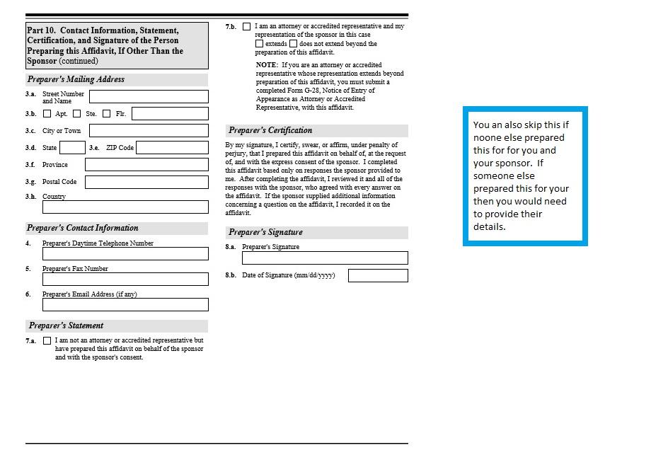 Form I-864 (affidavit of support)