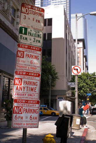 Parking signs in LA