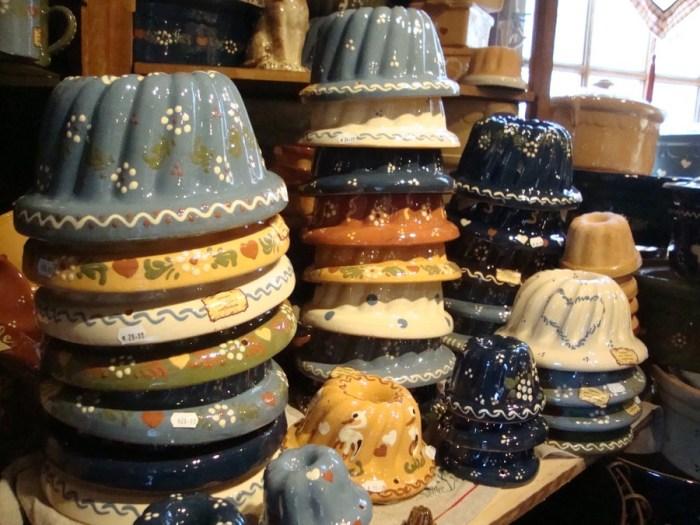 Ceramiche nei negozi tipici di Strasburgo