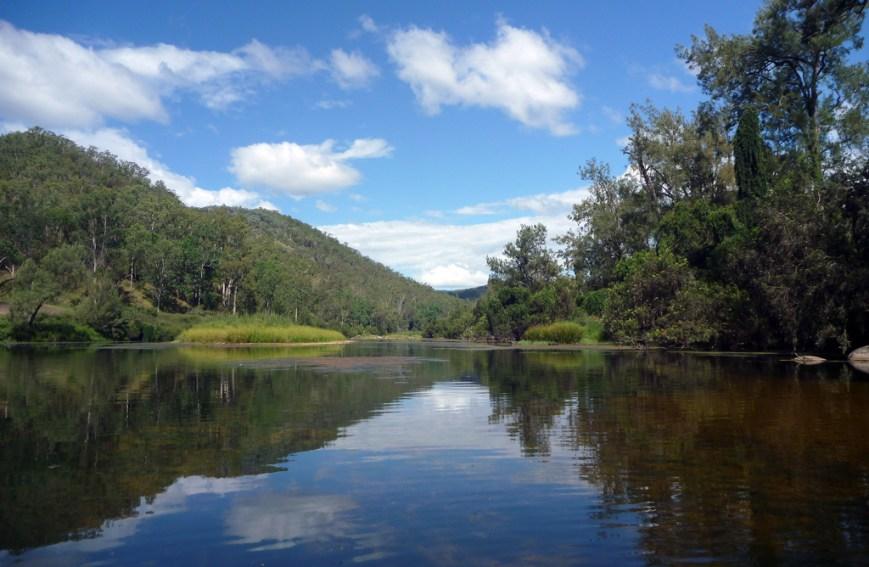 Kayaking-up-the-river