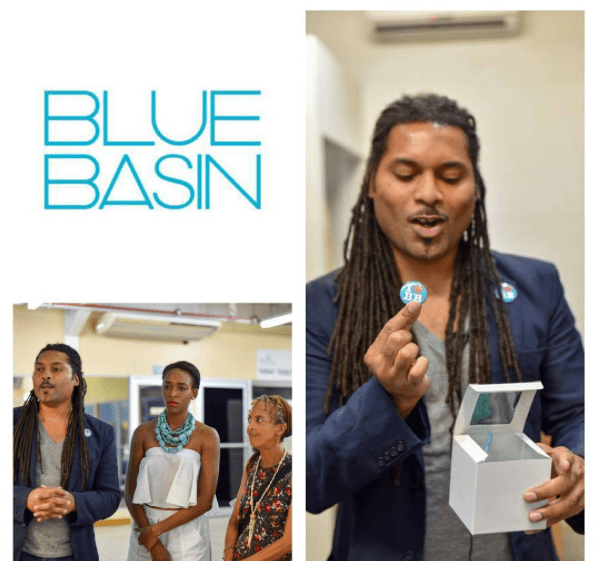 Jessel Brizan of Blue Basin Stores interacting with the group