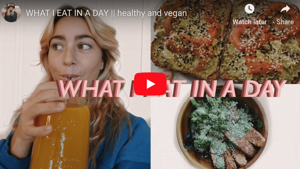 What I eat in a day - Angelina Nicolle