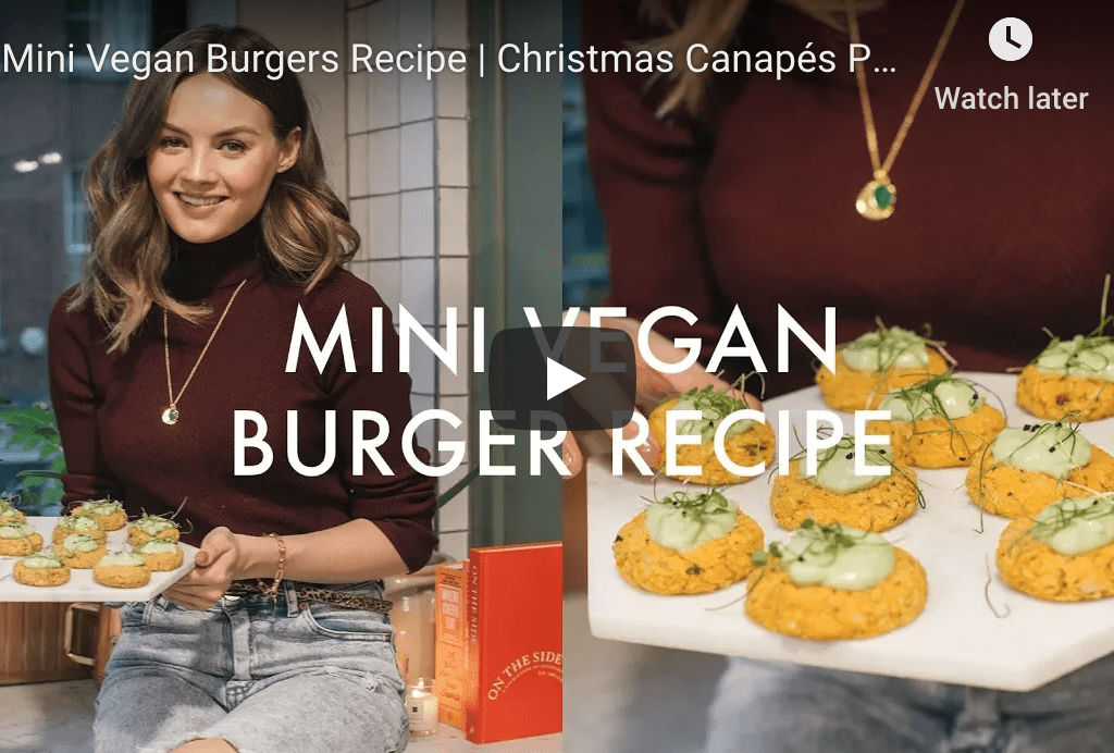 Christmas Canapes - Mini Vegan Burgers by Naomi Smart