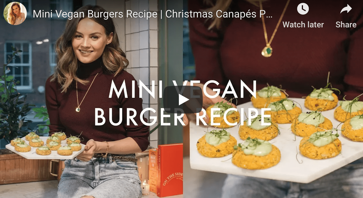 Christmas Canapes - Mini Vegan Burgers by Naomi Smart