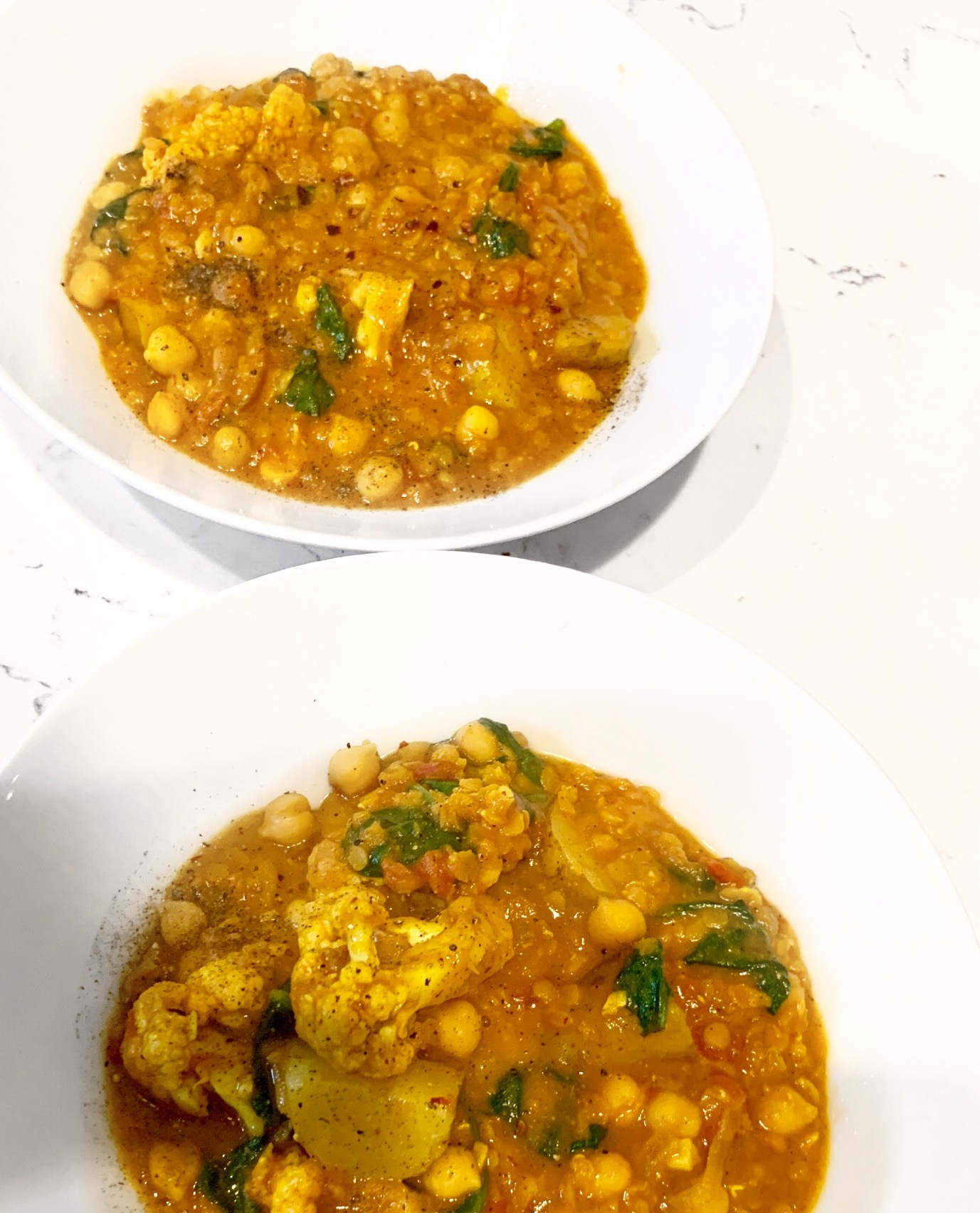 Chickpea and Lentil Curry