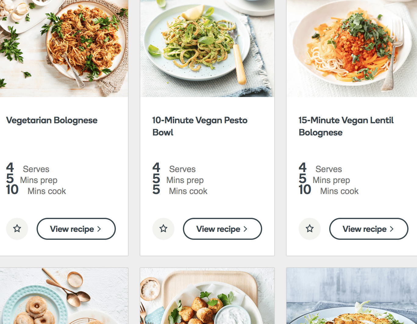 Woolworths have a vegan recipe page