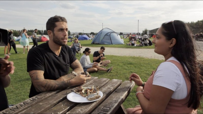 James Aspey at the Big Vegan Campout in the UK