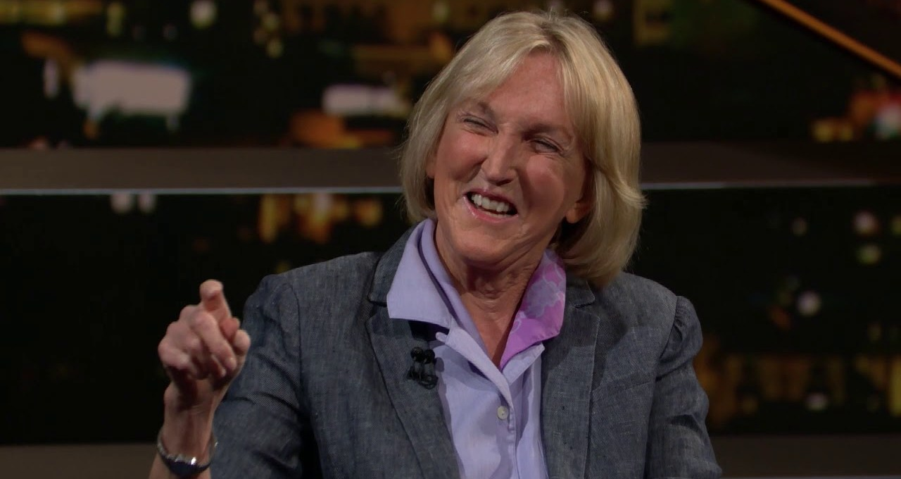 Bill Maher chats with PETA founder Ingrid Newkirk