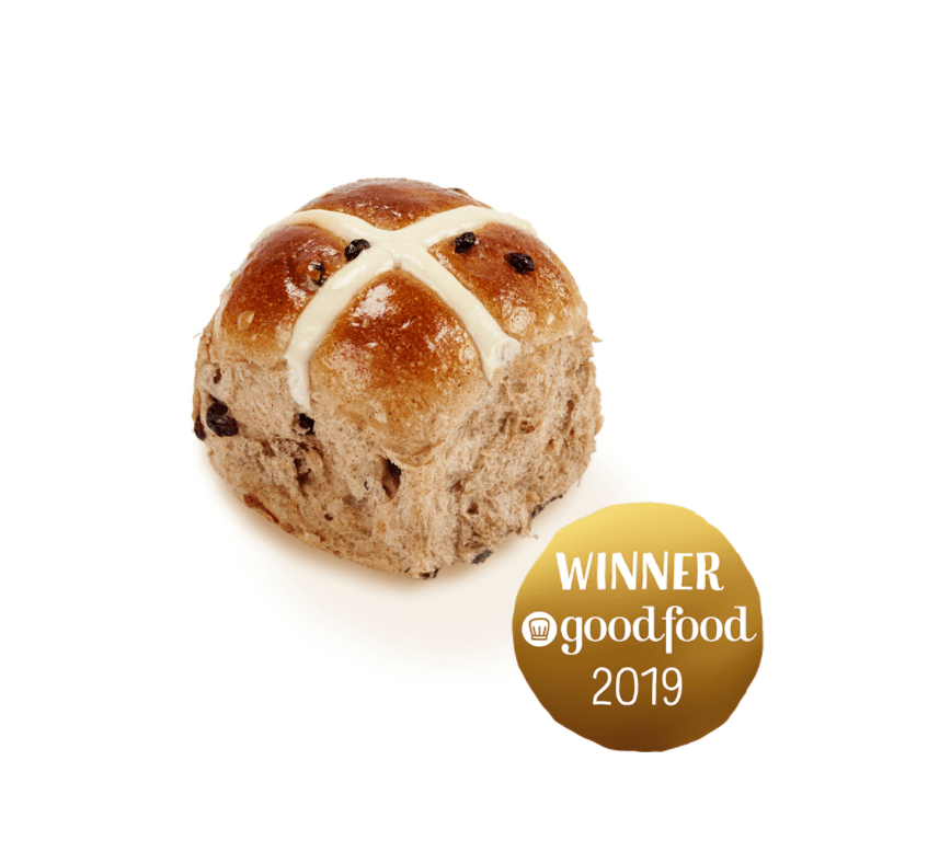 Bakers Delight traditional hot cross bun IS VEGAN!