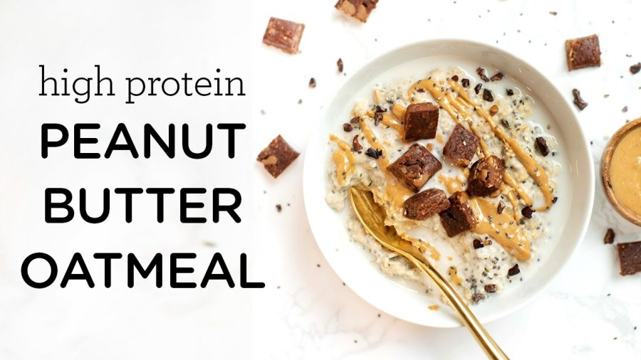 PEANUT BUTTER PROTEIN OATMEAL - high protein & vegan