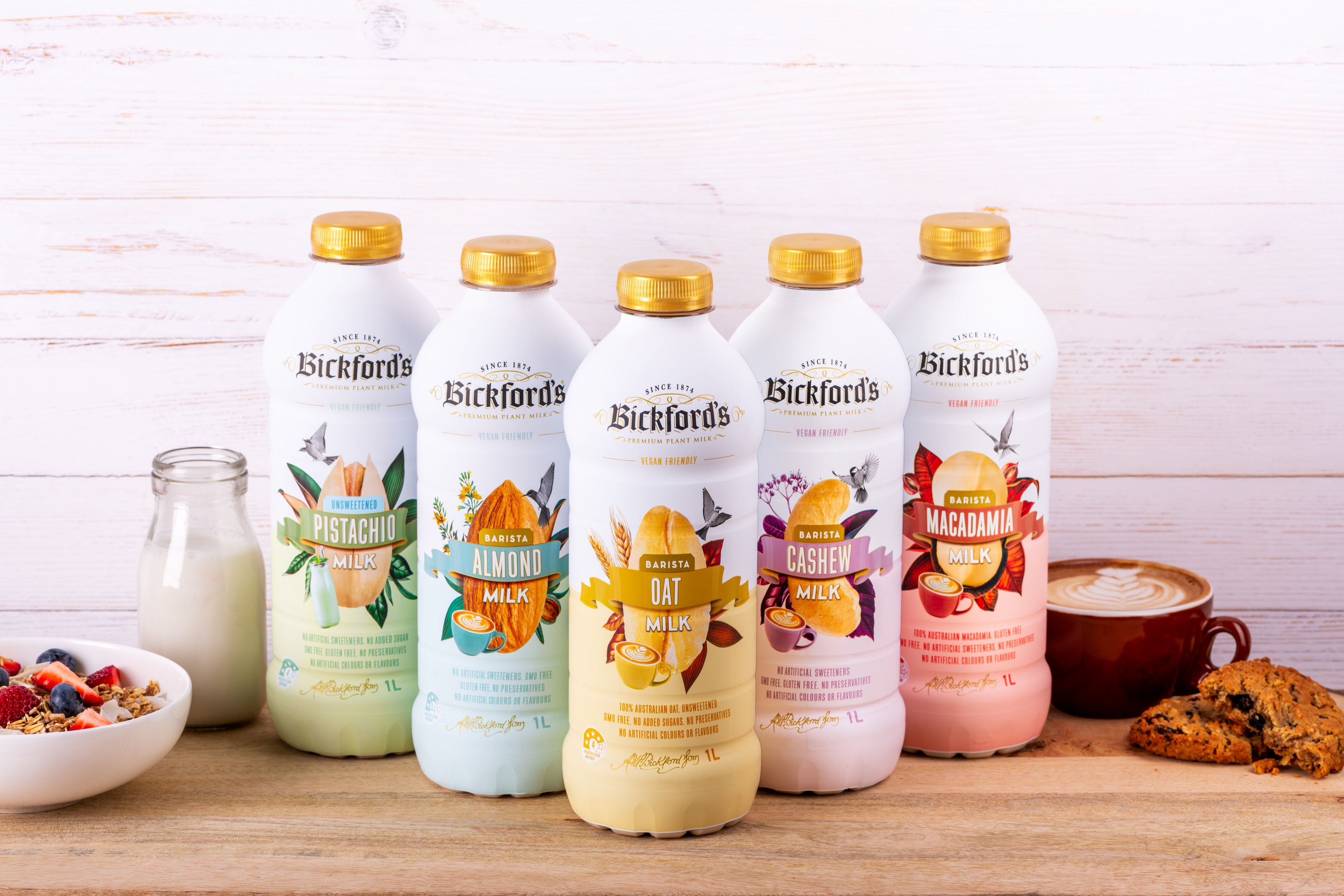 Bickford's launch a range of Plant Based Milks