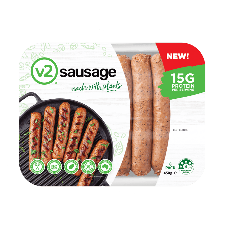 V2Foods new plant based sausage set to sizzle at Coles