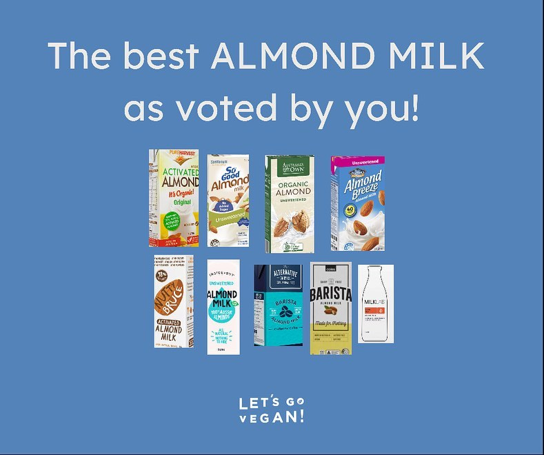 Best Almond Milk in Australia as voted by you!