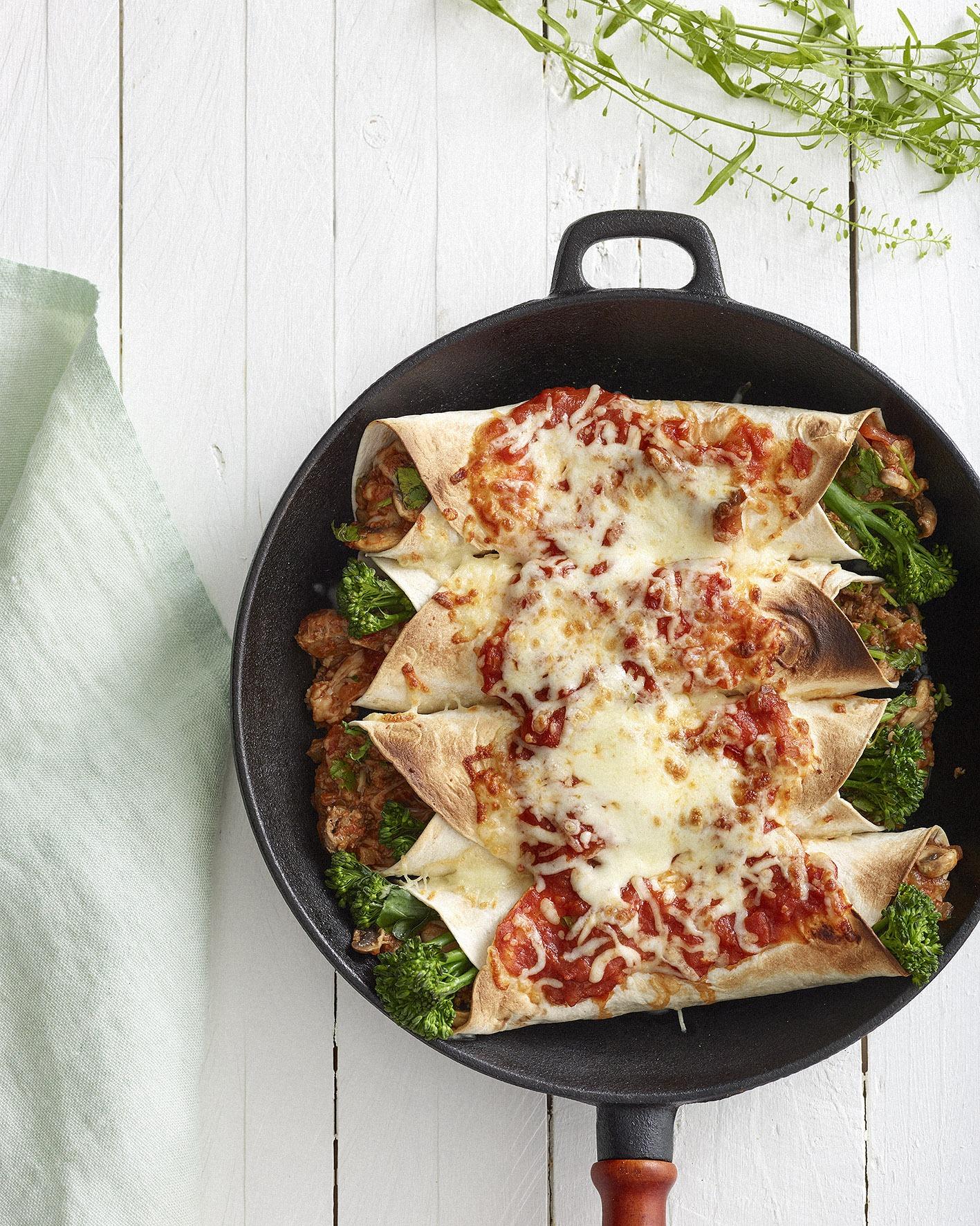 Mushroom Enchiladas