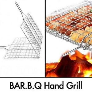 Bbq Stainless Steel Hand Grill (1)