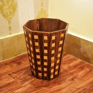 Wooden Basket and Tissue Box