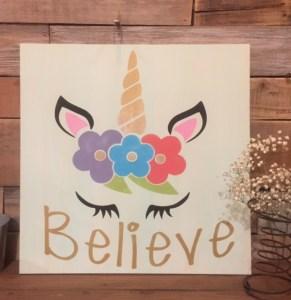 Believe unicorn