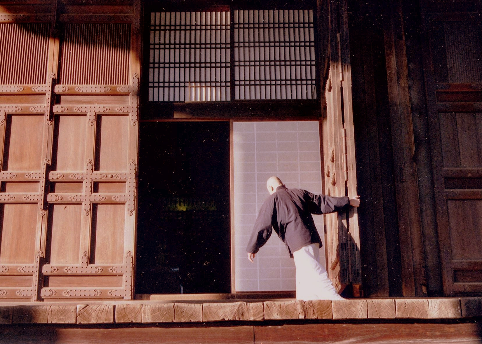 Closing Time at Chion-in Temple. Kyoto.  2003.