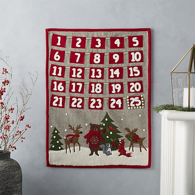 This holiday critter advent calendar from Crate & Barrel is just too cute #adventcalendar #christmas *Loving this post with advent calendar ideas that go beyond chocolate