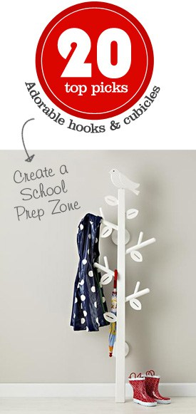 {Create a School Prep Zone} 20 adorable & kid-friendly hooks and cubicles
