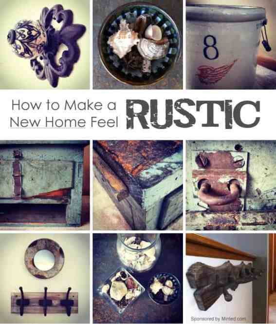 7 Tips for Making a New Home Feel Rustic *love the reclaimed barn wood frames!