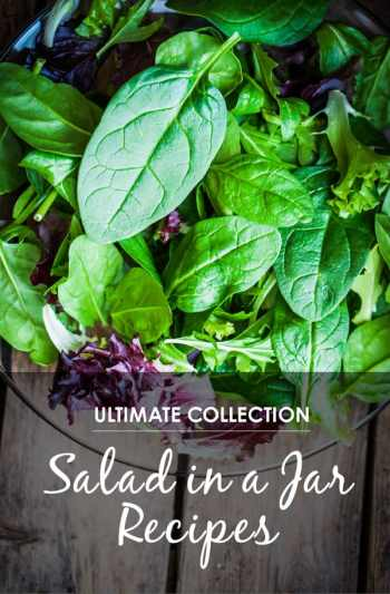 "30 Mason Jar Recipes: A Month Worth of ""Salad in a Jar"" Recipes *Awesome list of lunch ideas"