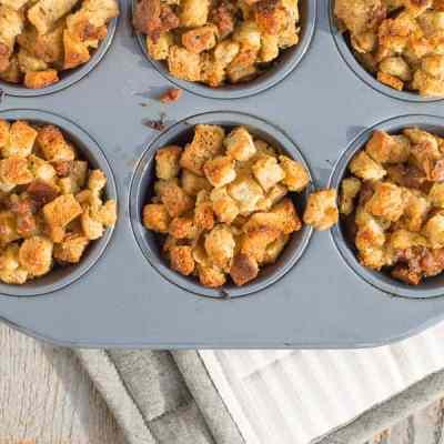 Savory Sausage Stuffin' Muffins Recipe