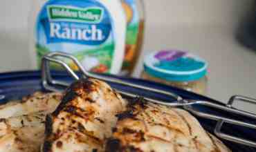 The Very BEST Grilled Chicken Marinade: 4-Ingredient Hidden Valley Ranch Chicken Recipe