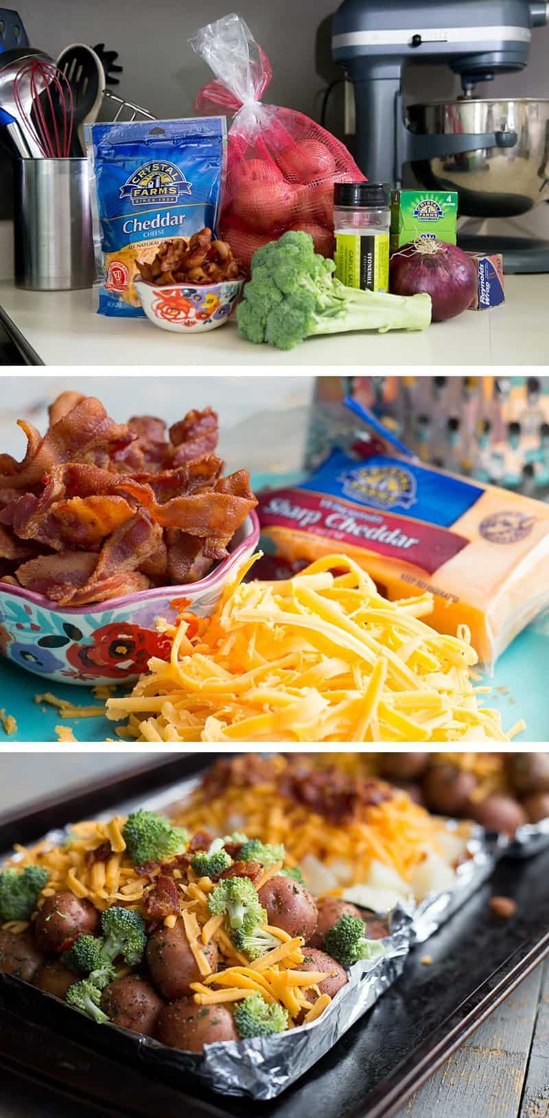 Cheesy Broccoli and Potato Packets: Foil wrapped new potatoes, fresh chopped broccoli bites, sharp cheddar cheese and bacon bits. You have to make these crazy-easy grilled potato bundles this summer. These foil wrapped potato packets are super simple and delicious. Perfect for camping or just a quick family dinner. *Saving this for later!