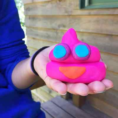 How to Make a Hot-Pink Play-Doh Poop Emoji — Yeah, That's Right