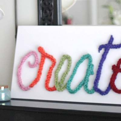 Finger Knit Word Art