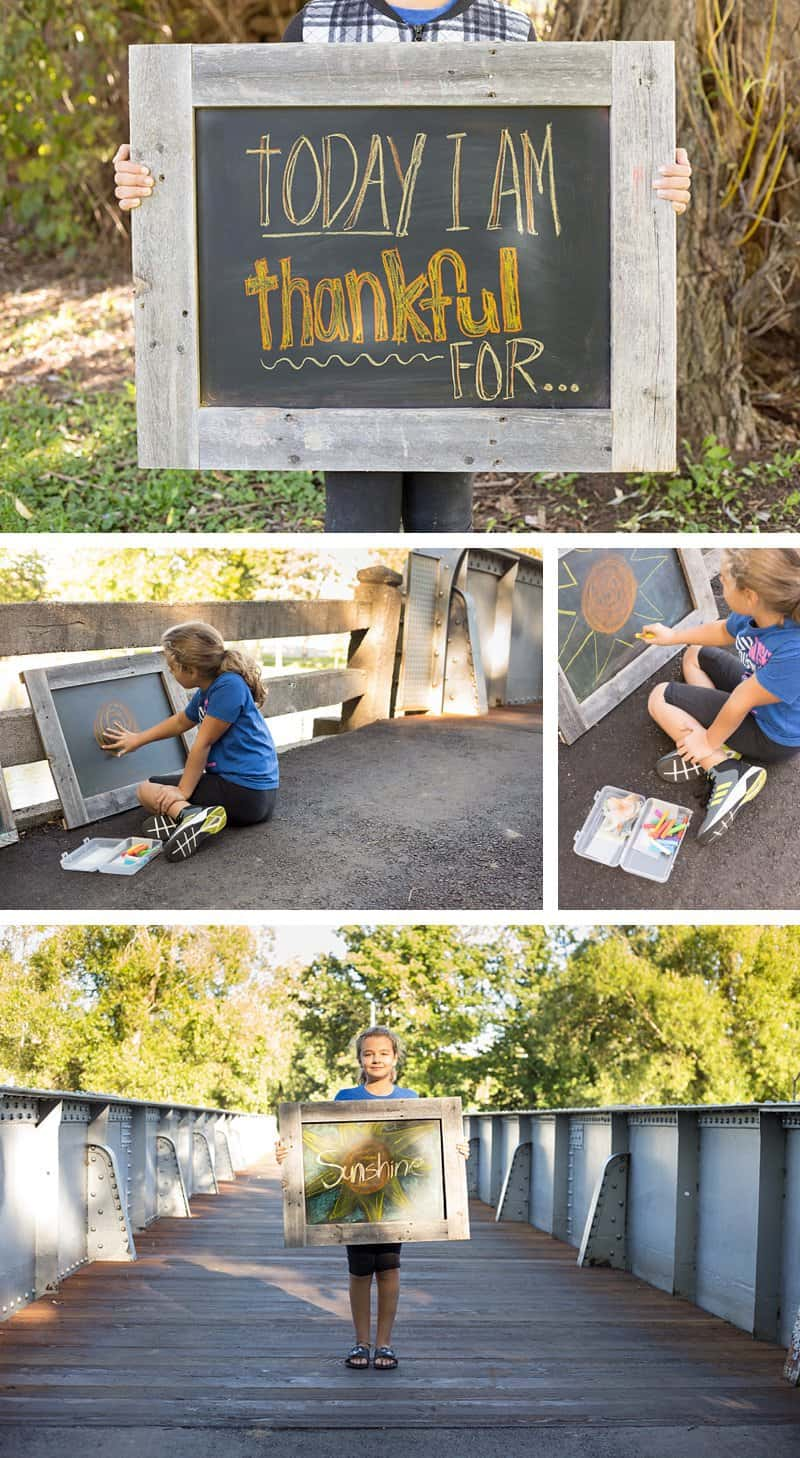 Today I am thankful for... Words of Gratitude Project *This interactive family project is perfect for older kids and Thanksgiving. Love the chalkboard art.
