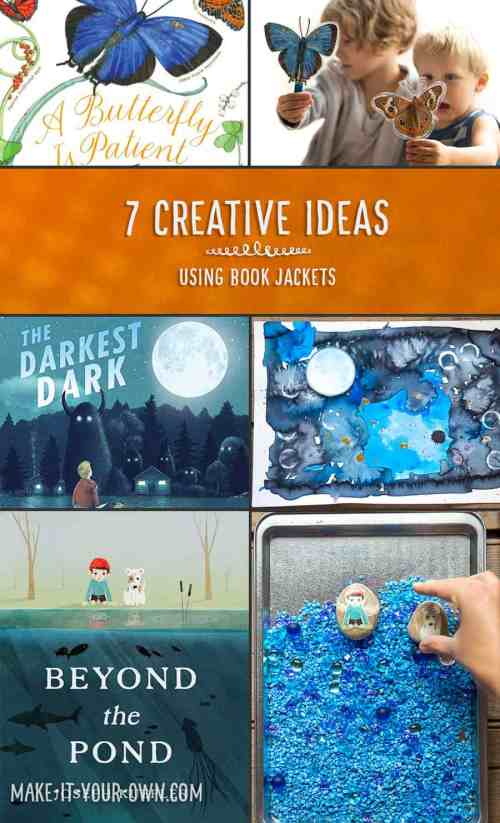 7 Creative Ideas for Book Jackets: Art Projects, Crafts for Kids, Educational Prompts, and More! *Love these ideas for upcycling old children's book covers
