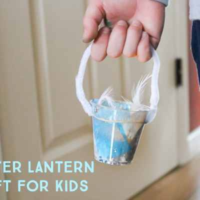 Easy Winter Lantern Craft for Kids
