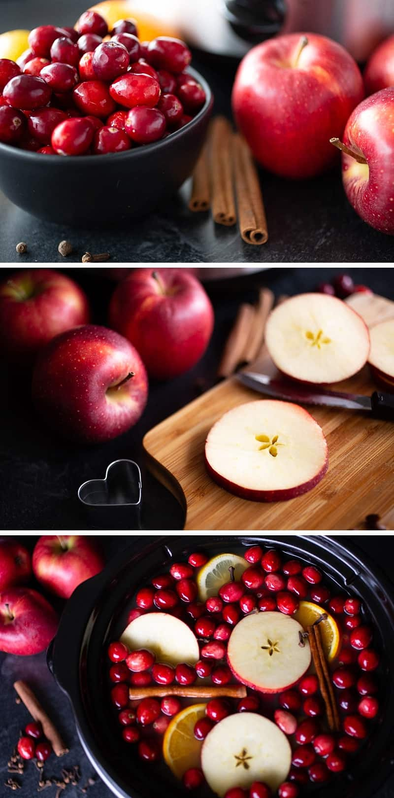 While these recipe ingredients mingle together and TASTE delicious, it's the garnishes that make this mulled cider LOOK irresistible. Here are three ways to give your mulled cider IRRESISTIBLE holiday charm . . . #crockpot #crockpotrecipes #slowcooker #slowcookerrecipes #recipes #drinkrecipes #thanksgivingrecipes #christmasrecipes #easypeasydrinks #cider #mulledcider #applecider *This Crock Pot recipe is so simple and my family loves it.