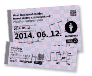 BKV pass and ticket