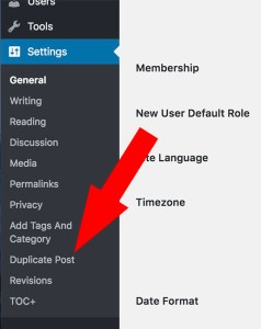 How to configure Duplicate Post Wordrpess Plugin