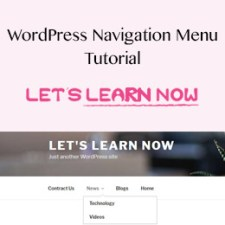 How to create and add a navigation menu in Wordpress