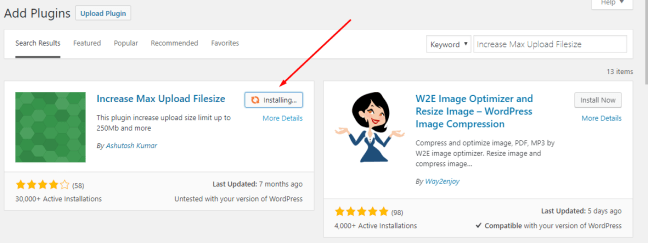 How to increase maximum file upload size in WordPress 9