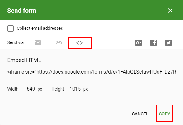 Embed Google Form in Website (4)
