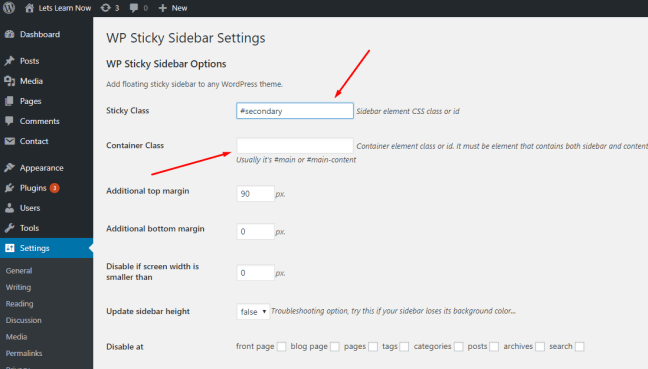 How To Add A Sticky Floating Sidebar Widget In WordPress (3)