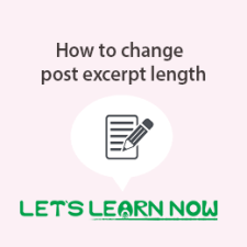 How to change the WordPress post excerpt length-featured-min