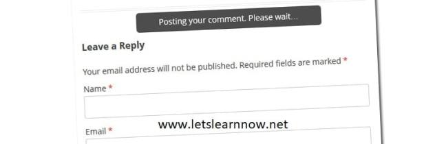 How to post WordPress Comments Without Reloading The Page by Ajax 1