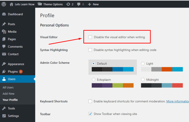 WordPress visual editor not working (2)