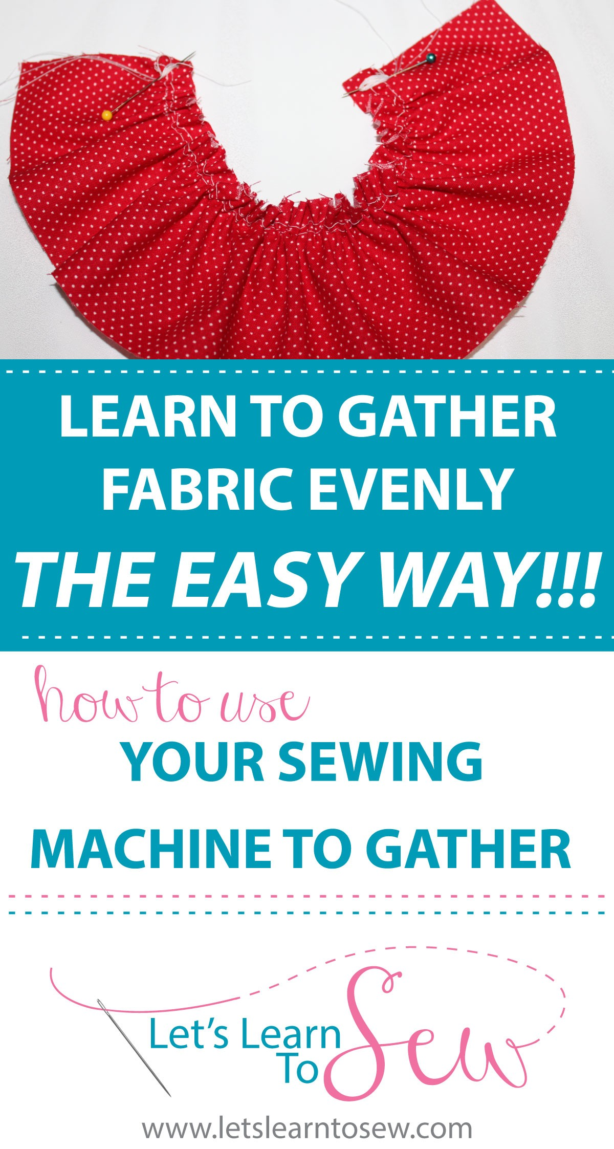 How to gather fabric evenly using a sewing machine