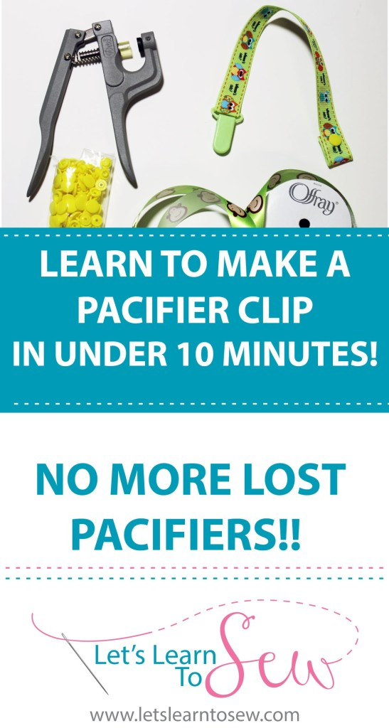 learn to Make a Pacifier Clip In under 10 minutes!
