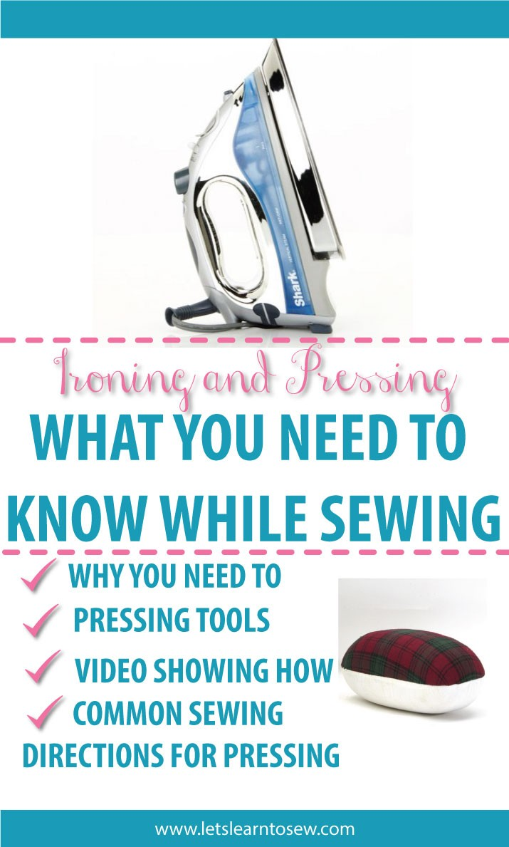 Ironing and pressing, what you need to know while sewing