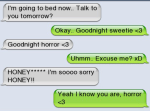 Good night text babe oops