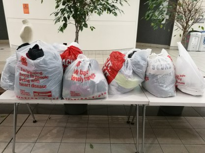 Items donated to the British Heart Foundation